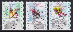 Liechtenstein   #973-975  MNH 1991   Albertville winter Olympic games 70r.  #