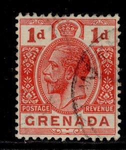 GRENADA GV SG92, 1d scarlet, FINE USED.