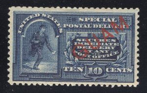 Guam# E1 10 Cents, Blue - Special Delivery - Unused - Disturbed Gum w/ Gum Loss