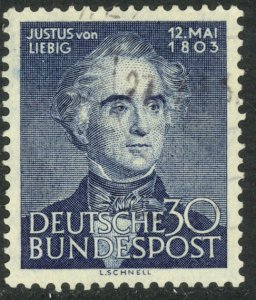 GERMANY 1953 JUSTUS VON LIEBIG Issue Sc 695 VFU