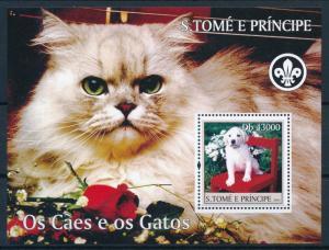 [96704] Sao Tome & Principe 2004 Animals Pets Dogs Cats Sheet MNH