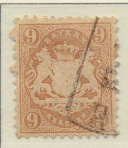 Bavaria (German State) Stamp Scott #27, Used - Free U.S. Shipping, Free World...
