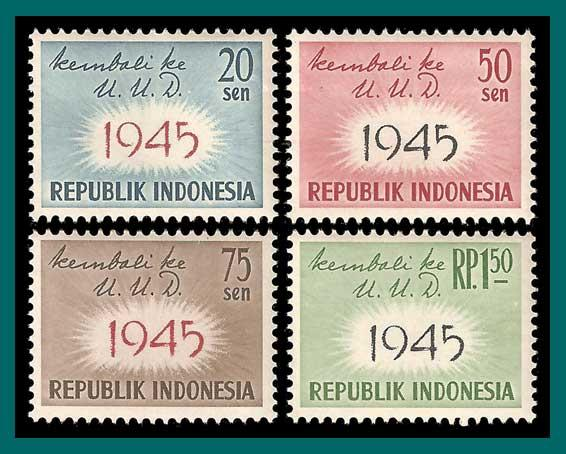 Indonesia 1959 Constitution, MNH  479-482,SG810-SG813