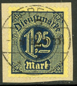 UPPER SILESIA 1920 1.25m Official C.G.H.S. DOUBLE 1 DOWNWARD Piece Mi.D17 XIV