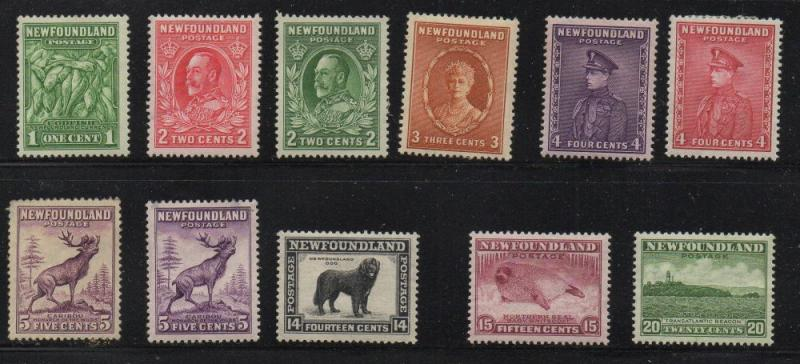 Newfoundand Sc 183//196, no 192,  1932 views short set mint