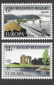 Belgium # 985-86  Europa  1977     (2)  Mint NH