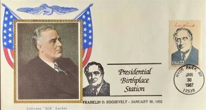 Colorano Silk 2219 Presidential Birthplace Station Franklin Roosevelt Hyde Park