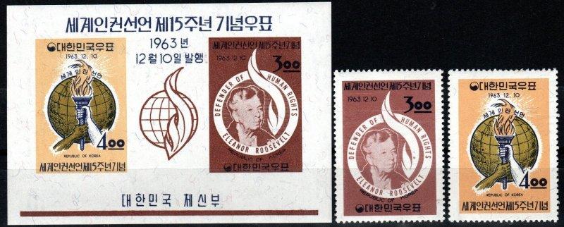 Korea #414-5, 415a  MNH CV $8.95 (X633)