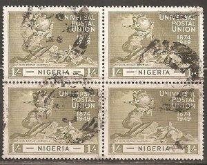 Nigeria  SC  78  Used. Block of 4