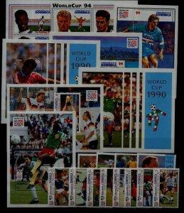 Dominica MNH lot Football SCV63.05
