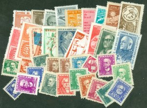 selection Brazil 1954-65 mint 38 different CV $75