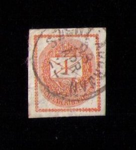 HUNGARY SCOTT #P4 NEWSPAPER STAMP USED VF CENTERING