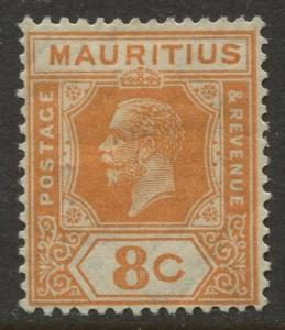 STAMP STATION PERTH Mauritius #186 Coat of Arms MLH Wmk 4 1928 CV$2.10