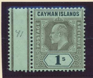 Cayman Islands Stamp Scott #27, Mint Hinged, With Selvage - Free U.S. Shippin...