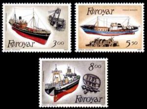 STAMP STATION PERTH Faroe Islands #158-160 Fa153-155 MNH CV$6.80