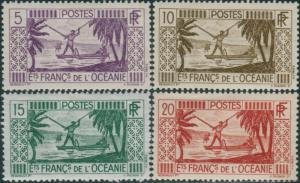 French Oceania 1934 SG87-90 Spearing Fish MLH