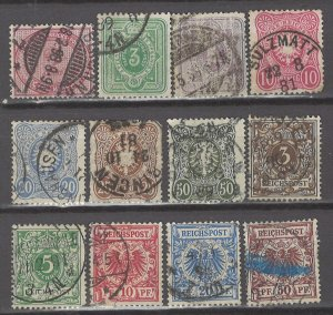 COLLECTION LOT # 5315 GERMANY 12 STAMPS 1875+ CV+$26