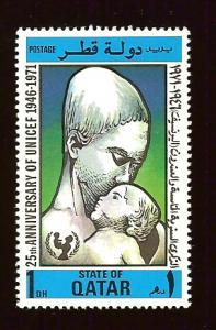 Qatar 267 1d UNICEF, Mother & Child MNH