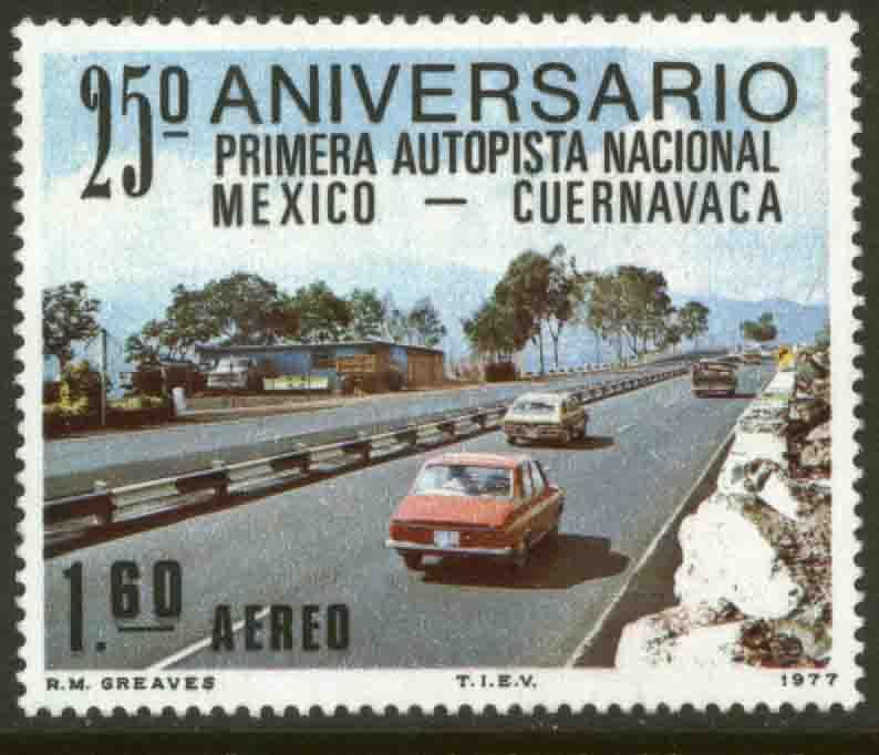 MEXICO C544 25th Anniversary of 1st National SuperHighway MNH