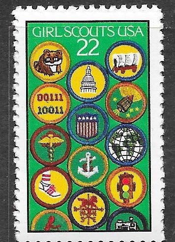 US#2251 $0.22   Girl Scouts  (MNH) CV $0.45