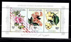 Comoro Is 811j NH 1994 sheet of 3