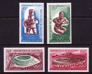 Dahomey 1968 Olympic Games Mexico City Sculpture Art Sport Stamps MNH Mi 360-363