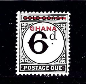 Ghana J4 MNH 1958 overprint