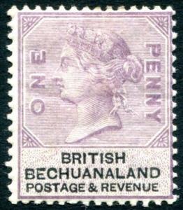 BECHUANALAND-1888 1d Lilac & Black Sg 10 MOUNTED MINT  V23099