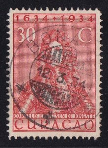 Netherlands Antilles  Curacao  #123  used  1934  anniv founding colony 30c