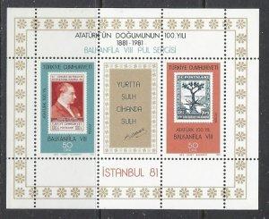 Turkey 2195 MNH 1981 Block of 4 (ap7278)