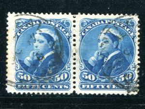 Canada #47 scarce pair Used F-VF
