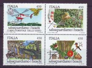 J21619 Jlstamps 1984 italy set blk/4 mh #1590a forest