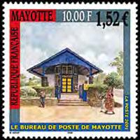 MAYOTTE 2001 - Scott# 157 Post Office Set of 1 NH