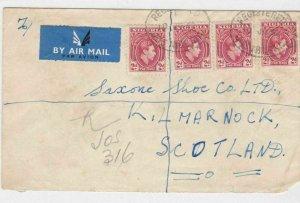 NIGERIA REGISTERED COVER ,JOS , KANO NIGERIA 1952 TO SCOTLAND  REF 632