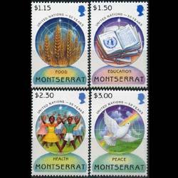 MONTSERRAT 1995 - Scott# 873-6 UN 50th. Set of 4 NH