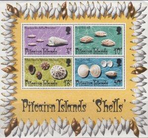 Pitcairn Islands, Sc140 (2), MNH, 1974, Shells