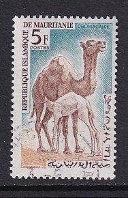 Mauritania    #138  used  1963  dromedaries  5fr