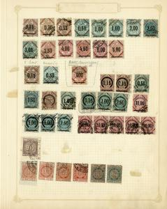 Italy Stamps 42x incl 400 Lira Rare Stamp on antique page