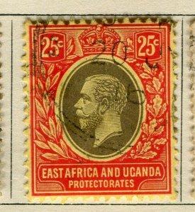 BRITISH KUT; 1912 early GV issue fine used 25c. value