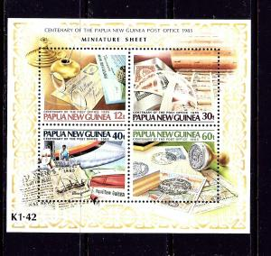 Papua New Guinea 631 MNH 1985 Post Office Centenary S/S