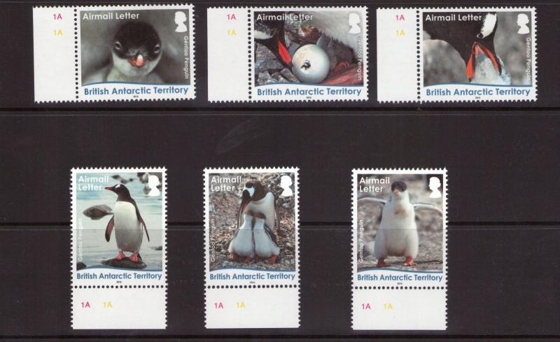British Antarctic Territory Lifecycle GENTOO set  MNH