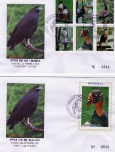 Honduras 1997 Birds of Honduras Set(6)+1SS F.D.C.