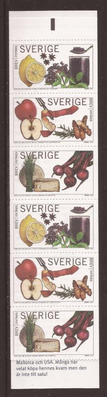 Sweden scott #2507 cmplt bklt m/nh stock #35424