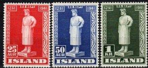 Iceland #237-9 MNH  CV $8.50 (X1158)