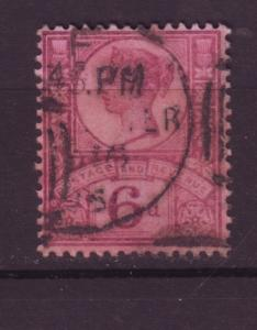 J19730 Jlstamps 1887-92 great britain used #119 queen