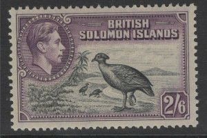 BRITISH SOLOMON IS. SG70 1939 2/6 BLACK & VIOLET MNH