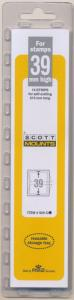 Prinz Scott Stamp Mount 39/215 CLEAR Background Pack of 15