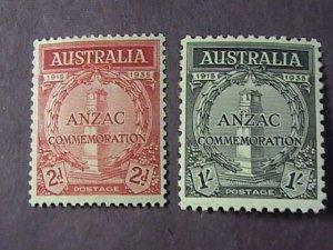 AUSTRALIA # 150-151-MINT/HINGED--COMPLETE SET------1935(LOTC)