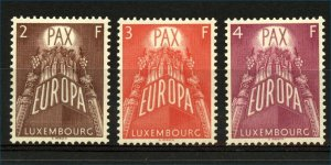 Luxembourg 1957 Europa Peace Issue 2F to 4F sg626/8 cv£290+ (3v) Mint Stamps
