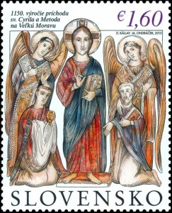 stamps Slovakia 2020. - 1150th anniversary of the arrival of Saints Cyril and Me